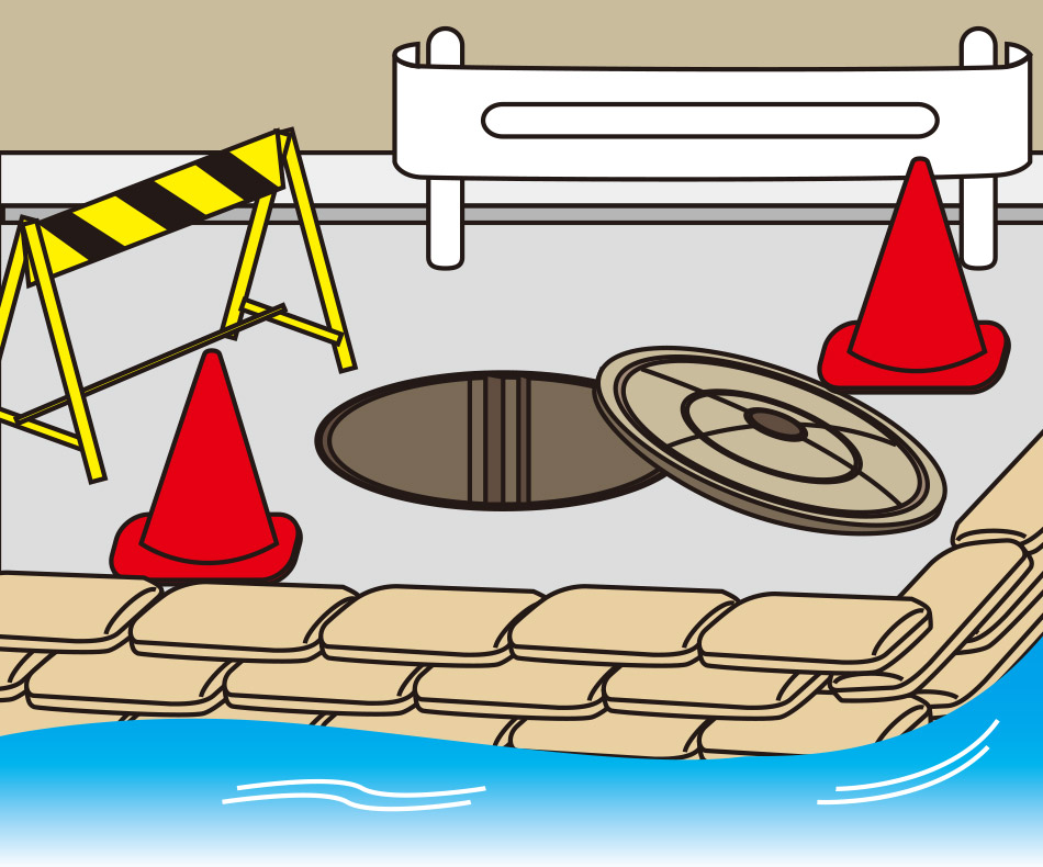 洪水時に流入防止・水路誘導に役立つスーパーブロック